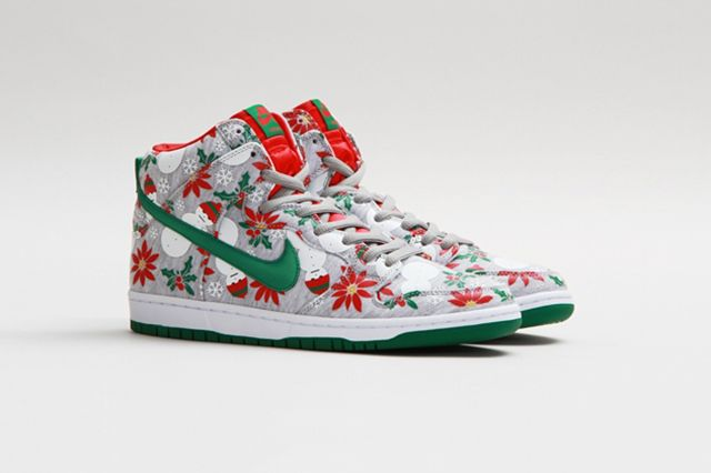 Concepts Nike Sb Dunk High Ugly Christmas Sweater 6