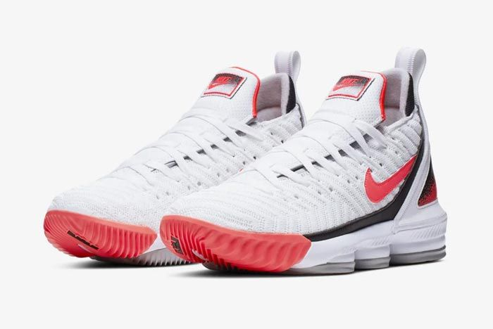 Nike Lebron 16 Hot Lava White Pair