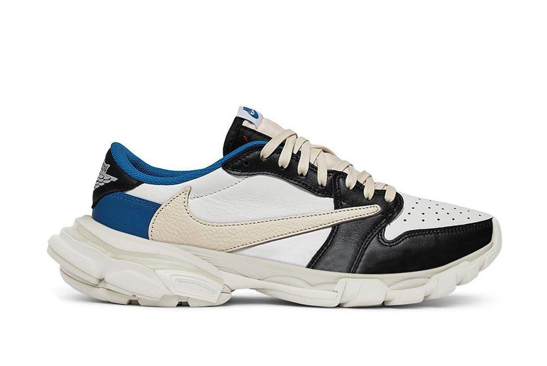 The Shoe Surgeon Air Jordan 1 Low Travis Fragment Balenciaga