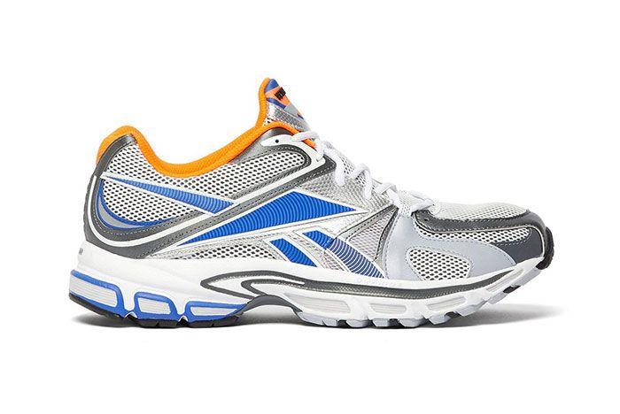 Vetements Reebok Spike Runner 200 White Blue Orange Grey Release Side Shot