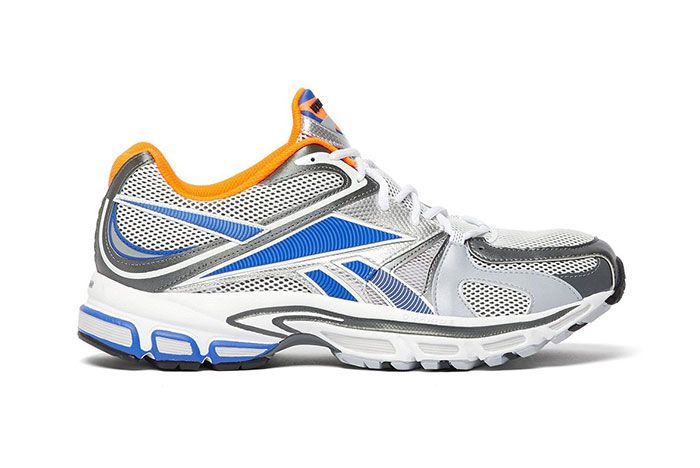 Vetements Reebok Spike Runner 200 White Blue Orange Grey Release Side Shot