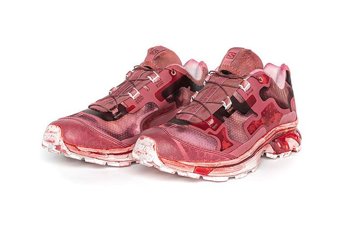 11 By Boris Bidjan Saberi X Salomon Spring Summer 2020 Footwear Red Low Three Quarter Angled Side Shot
