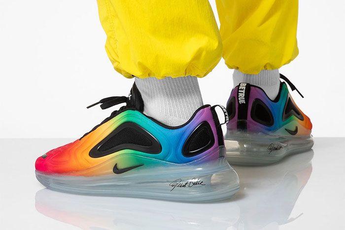 Nike Air Max 720 Be True Cj5472 900 On Foot Lateral Heel Three Quarter Side Shot