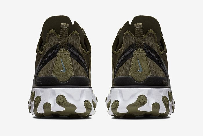 Nike React Element 55 Olive Green White 5