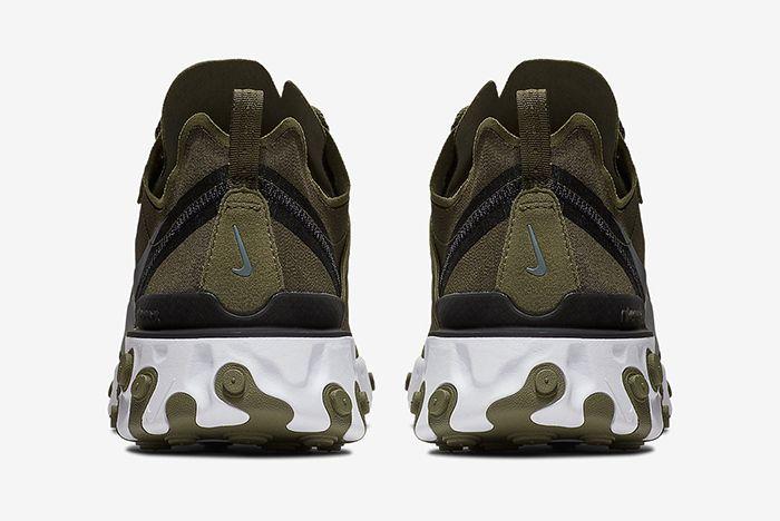 Nike React Element 55 Olive Green White 5