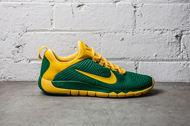 Nike Free Trainer Nrg Pine Green Varsity Maize 1