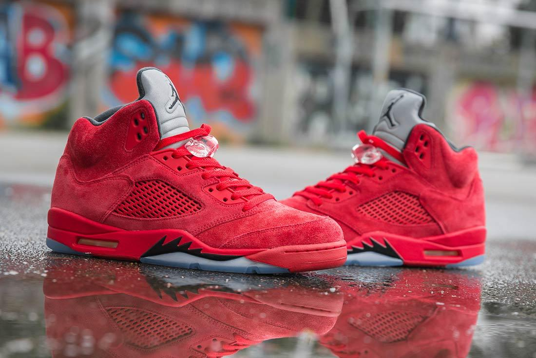 Air Jordan 5 Red Suede 1