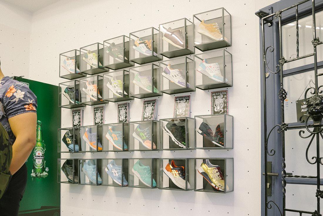Allike Asics Sneaker Freaker Event Recap Asics Wall With Magazines