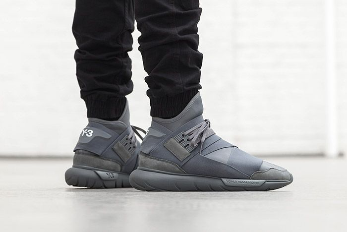 Adidas Y 3 Qasa High Vista Grey On Foot 1