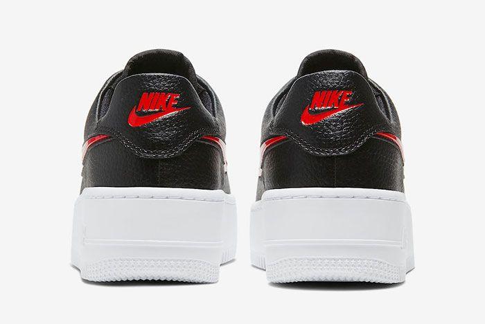 Nike Air Force 1 Sage Low Valentines Day Cu4759 001 Heel Shot