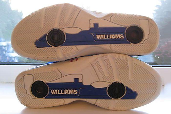Williams F1 Retro Trainers Sole