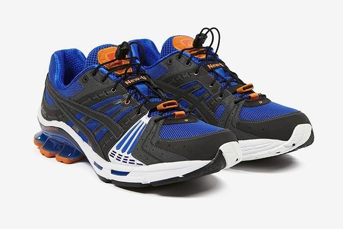 Affix Works Asics Gel Kinsei Blue Three Quarter Angle Shot