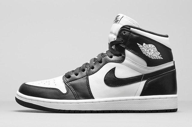 Air Jordan 1 Black White Bump 4