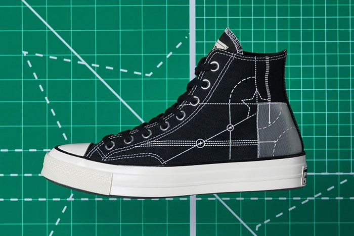 End Converse Blueprint Pack Chuck 70 Jack Purcell Black Natural Ivory Lateral Side Shot2