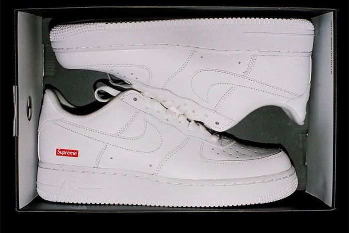 Supreme Nike Air Force 1 White Cu9225 100 Reveal