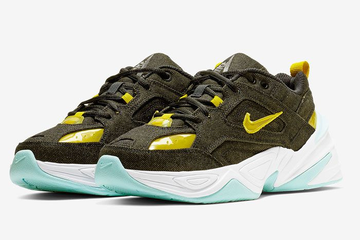 Nike M2K Tekno Denim Green Yellow Release Date