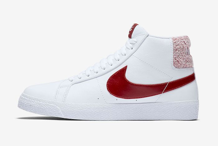 Nike Sb Blazer Team Red Cj6983 101 Release Date Side