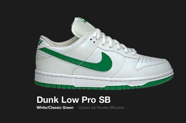 Nike Dunk Low Sb White Classic Green 2005 1