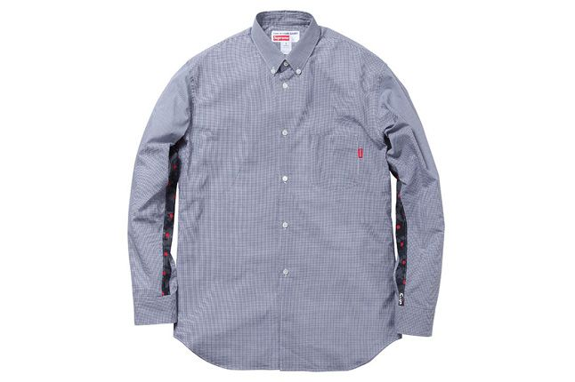 Supreme Vans Comme Des Garcons Spring Capsule Blue Shirt 1
