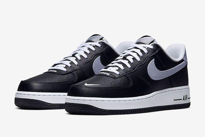 Nike Air Force 1 Low Black Wolf Grey Cj8731 001 Release Date 4 Pair
