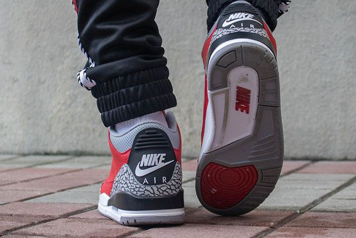 Air Jordan 3 Cement Red Fire Red All Star On Foot5