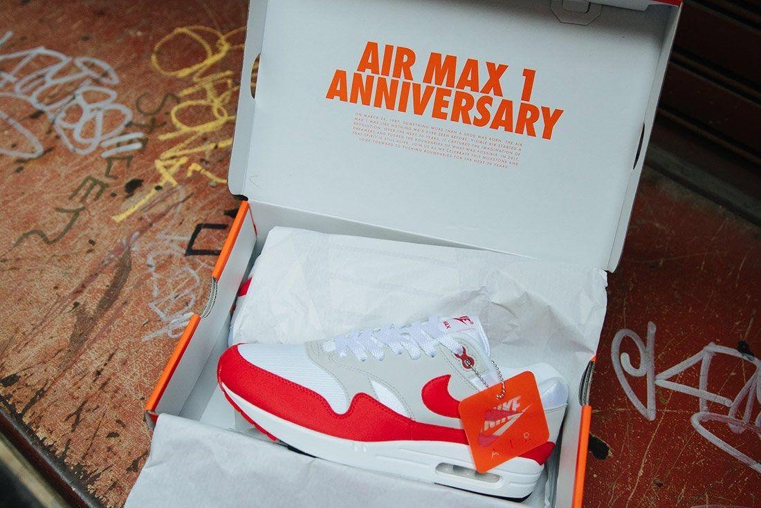 Nike Air Max 1 Anniversary Og Red White 8