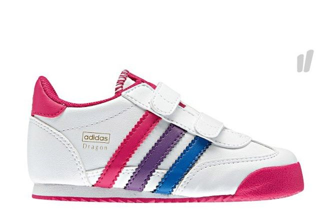 Adidas Kids Orig Dragon Pink White 1