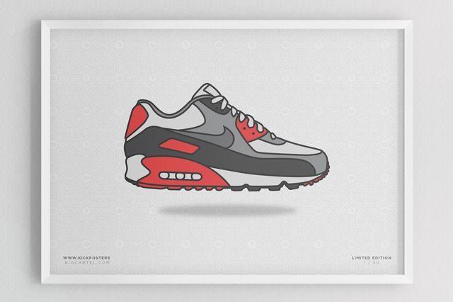 Sneaker Prints Air Max 90 Infrared