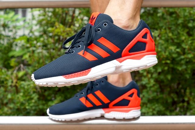 Adidas Originals Zx Flux Dark Blue Solar Red 8