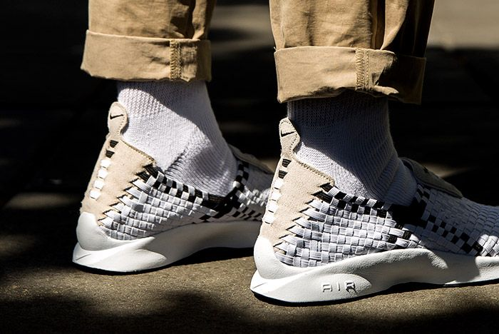 Nike Air Woven White Black 3