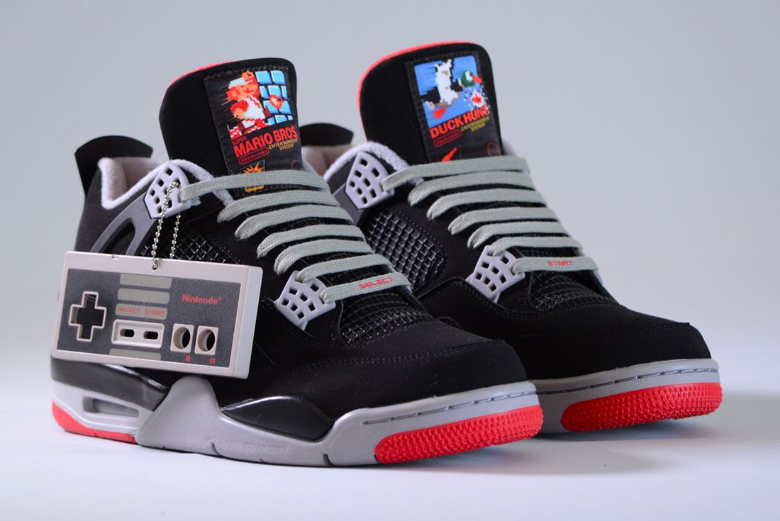 Air Jordan 4 Super Mario Custom