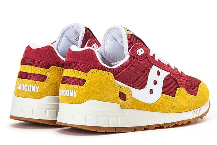 Saucony Shadow 5000 Red Yellow S70404 21 Rear Angle