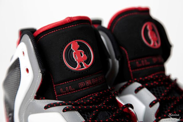Lil Penny Posite Reflective Slvr Red Tongue