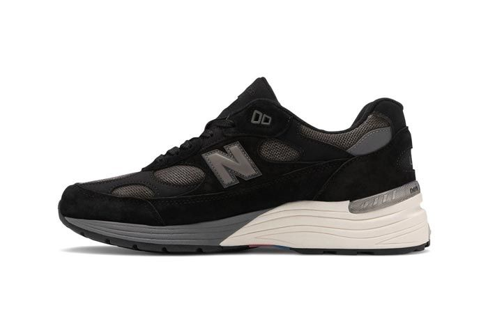 New Balance Made In Usa 992 Black Grey Medial