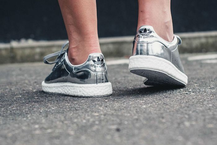 Adidas Stan Smith Boost Silver3