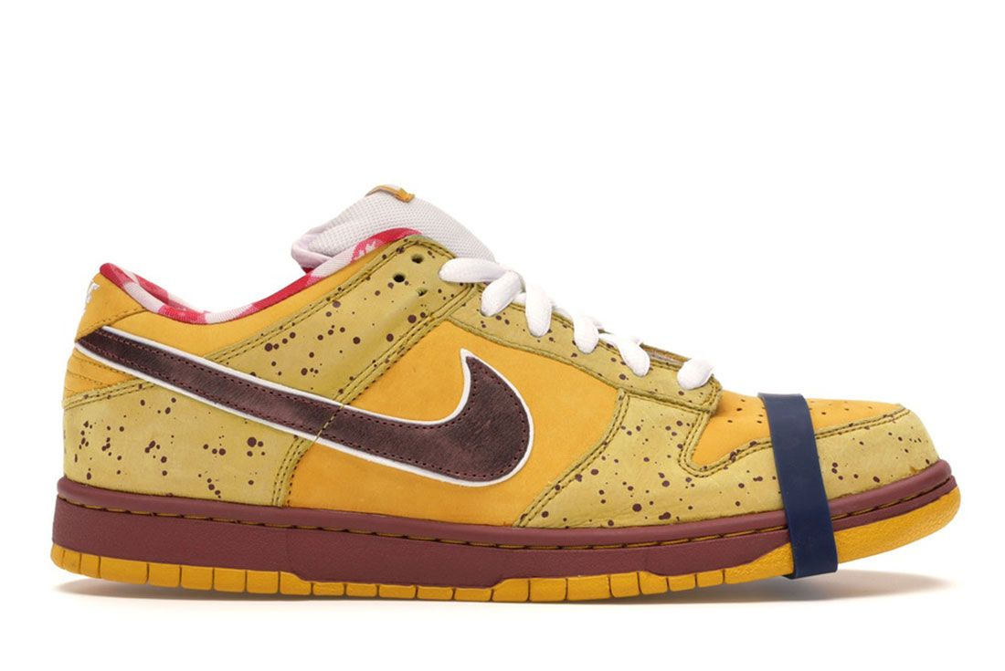 Nike Sb Dunk Low Concepts Yellow Lobster Lateral Side Shot