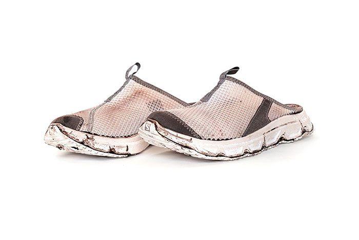 11 By Boris Bidjan Saberi X Salomon Spring Summer 2020 Footwear Brown White Slide Three Quarter Angled Side Shot