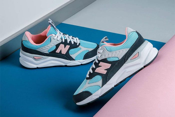 New Balance X 90 Reconstructed Summer Sky Side Shot Angle 1