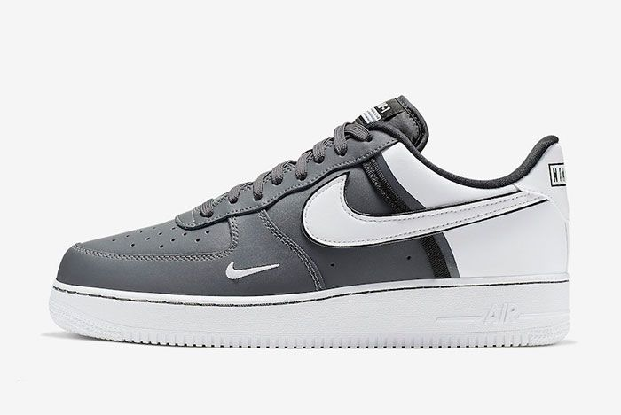 Nike Air Froce 1 Low 07 Lv8 Grey Grey Left