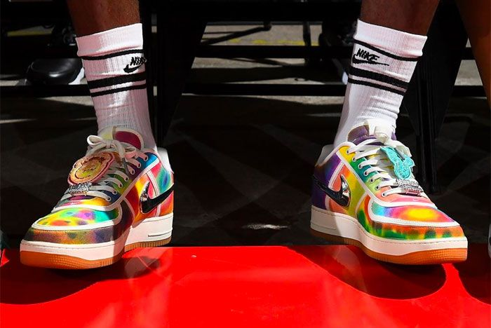 Lebron James Travis Scott Air Force 1 On Foot