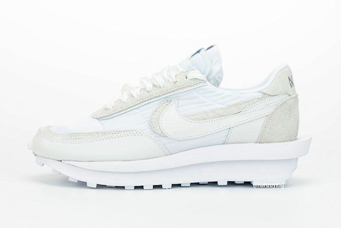Sacai Nike Ldwaffle White Nylon Left