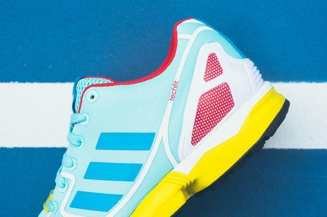 Adidas Zx Flux Techfit Og Aqua Yellow 3