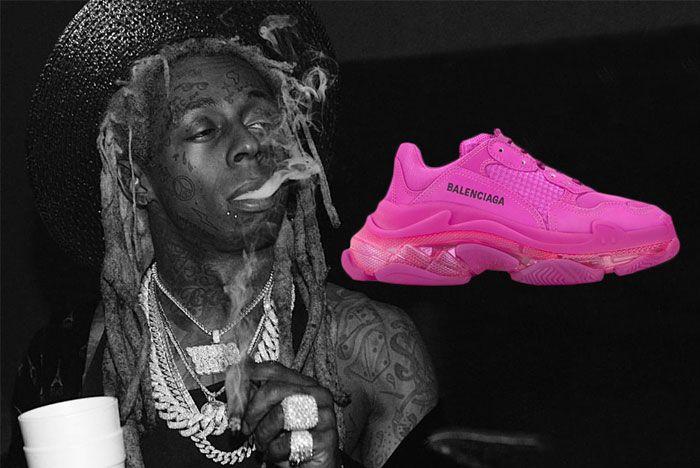 Lil Wayne Balenciaga Triple S Pink