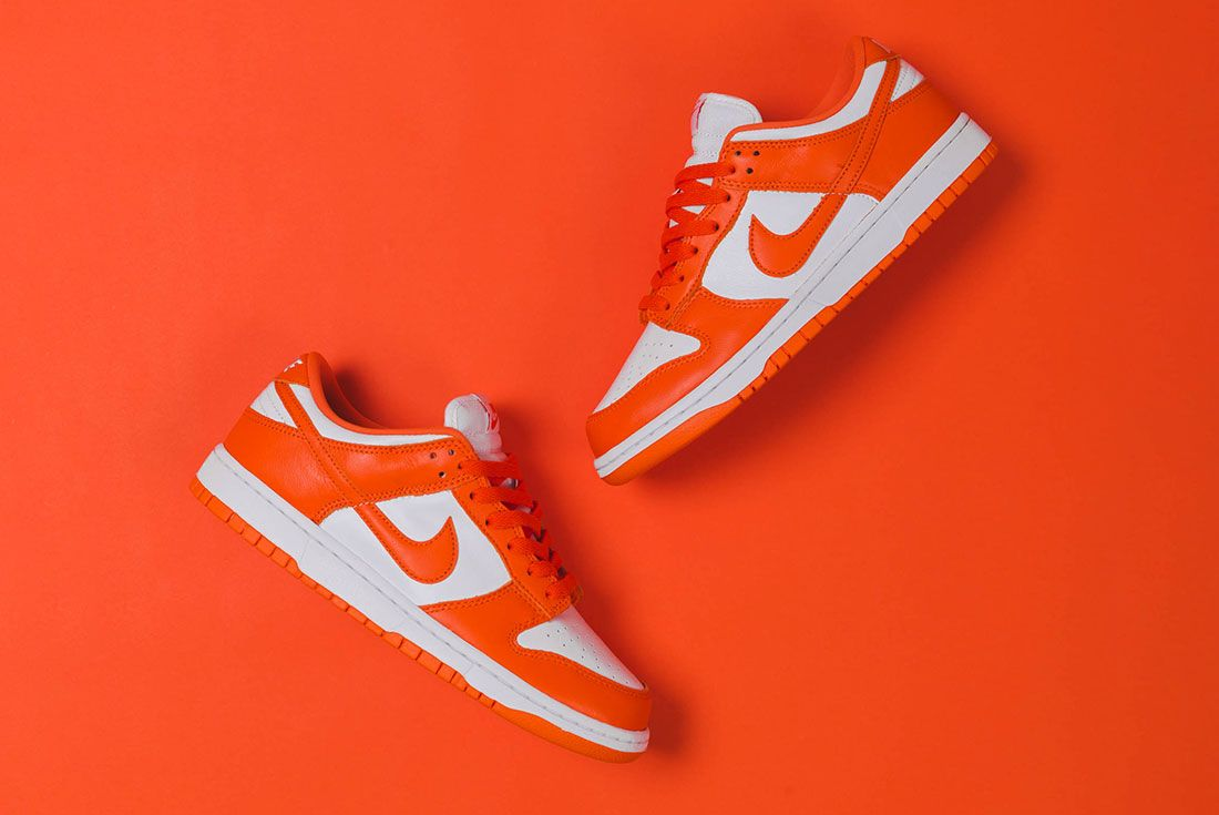 Up There Store Nike Dunk Low Sp White Orange Blaze Lateral