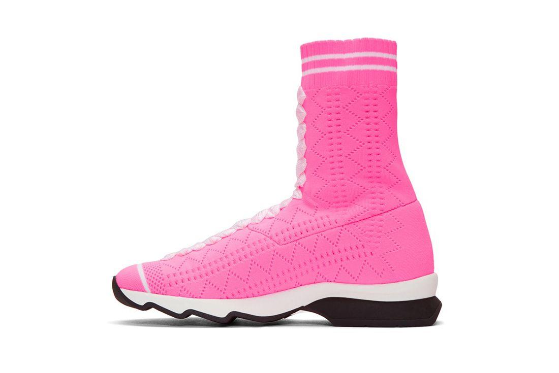 Fendi Pink Sock Sneaker Freaker 4