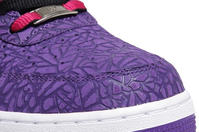 Nike Air Force 1 Le Godzilla Pack Black Purple Toe 1