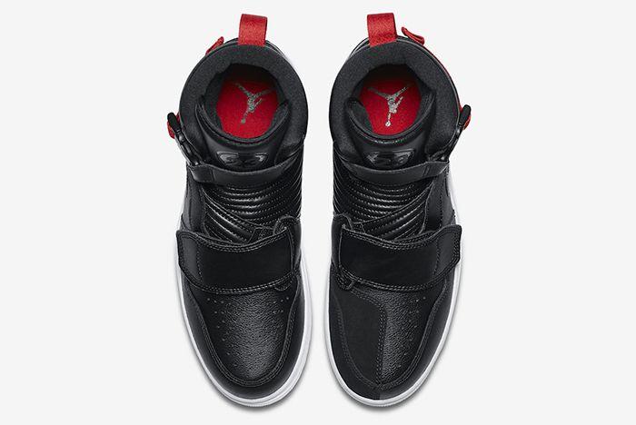 Air Jordan 1 High Moto Black Red Official 4