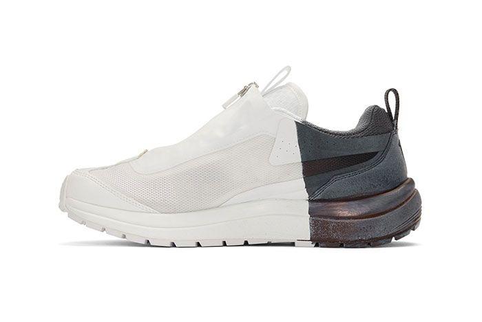 11 By Boris Bidjan Saberi Salomon Painted Lowtop Sneakers Bamba 2 Low Side Shot 1
