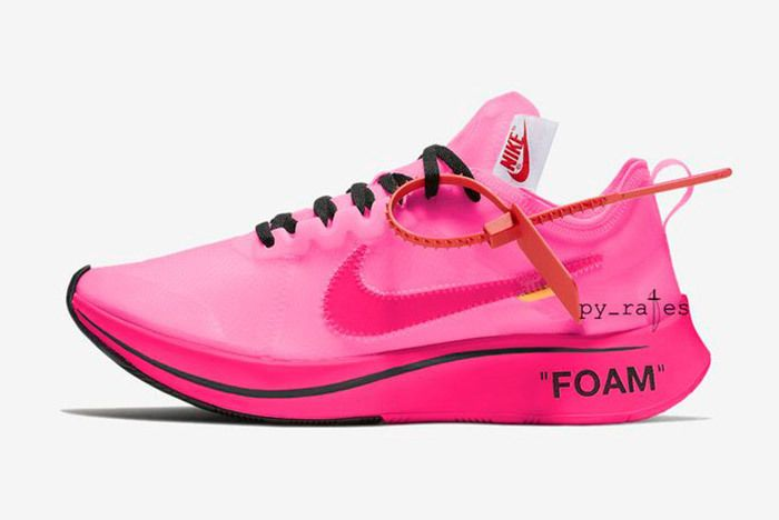 Off White X Nike Zoom Fly Racer Pink Tulip 1