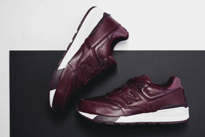 New Balance 597 Burgundy Leather 6